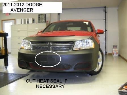 HONDA ACCORD Sedan Without Fog Lights 2011-2012 Car Mask Bra Fits Lebra 2 piece Front End Cover Black
