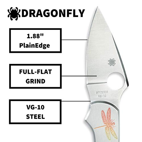 Spyderco Dragonfly Signature Tattoo Folding Knife with 2.32