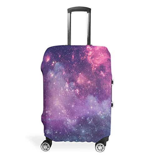 Travel Luggage Case Protector - Space Polyester Multi Size Suit for Most Trolley White #l (66x96cm)#