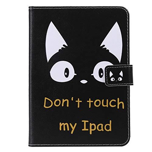 LMFULM® Hülle für Alle Kindle Paperwhite (2018/2016 / 2015/2013 / 2012 Modelle mit 6 Zoll Bildschirm) PU Leder Magnet Lederhülle Süße Katze Muster Standfunktion Schutzhülle