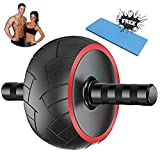 atyun Ab Roller Trainer, Abdominal Core Strength Exercise Roller with Ultra-wide Wheel and Free Towel, Muscle Trainer for Belly, Abs and Back, Handy Workout Device for Home Gym Exercise