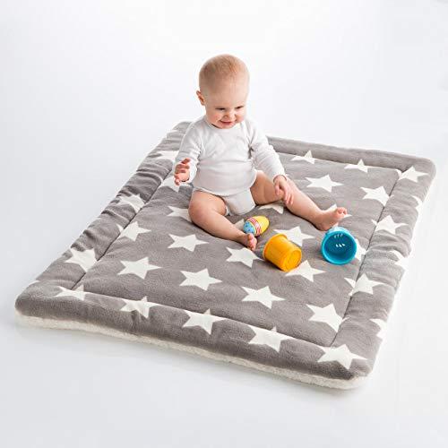 Super kuschlige Baby Krabbeldecke, Spieldecke, Wickeldecke, extra weich und flauschig, Reisedecke, ÖEKO-Tex® 100 - schadstofffrei und hautfreundlich