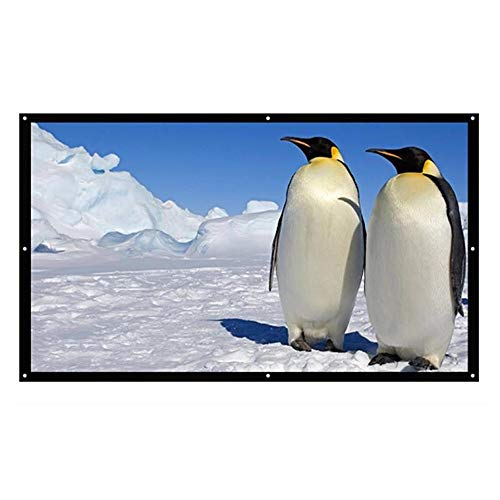 Yuehjnba Projection Screen Projector Screen - Indoor and Outdoor Movie Screen for Movie Or Office Presentation - for Home Theater Cinema Best Outdoor Movie Screen (Color : White, Size : 84inch)