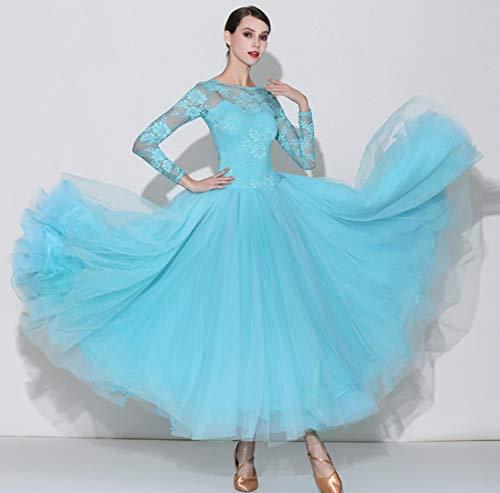 Z&X Modern Dans Jurk voor Vrouwen Grote Pendulum Rok Ballroom Kostuum Competitie Geborduurde Dans Jurk Spandex / 40D Brocade Mesh/Ijs Zijde/Hoge Dichtheid Garen