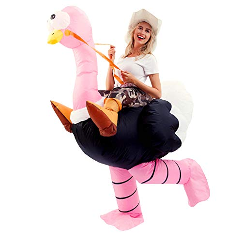 Spooktacular Creations Inflatable Costume Riding an Ostrich Air Blow-up Deluxe Halloween Costume - Adult Size