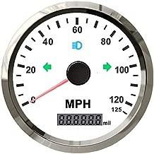 ELING Universal GPS Speedometer 125MPH Odometer Adjustable for Boat Car Truck Motorcycle 3 3/8 12V 24V with Backlight