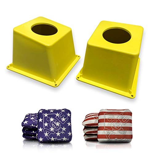 Cornhole Airmail Box Set with Dual Aces - Stars & Stripes (Set of 8 Bags) - ACL Approved Cornhole Bags Series - Dual Sided Slick Style Bags - Played by ACL Professional Players