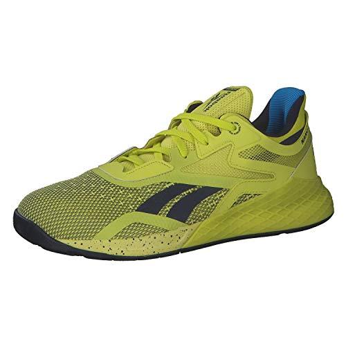 Reebok Herren Nano X Running Shoe, CHARTR/VECNAV/White, 43 EU