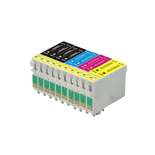 10 cartuchos de tinta ECS compatibles T1285 Epson para impresoras Epson Stylus S22 SX125 SX130 SX420W SX425W SX445W BX305F BX305FW SX230 SX235W SX445W SX435W SX430W SX438W SX40W.