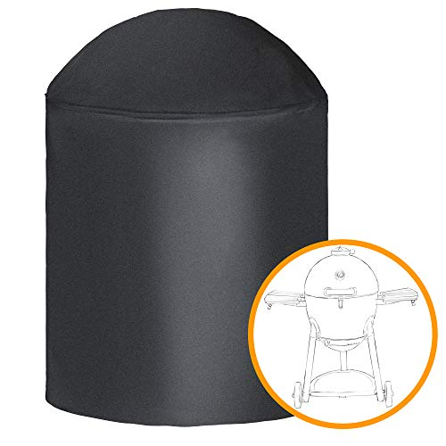 i COVER Round Grill Cover-39(Dia) x41(Tall) Water Proof Heavy Duty Outdoor Canvas BBQ Grill Cover Dome Smoker Cover Fits Char-Griller Akorn kamado Grill or Similar Size Grills