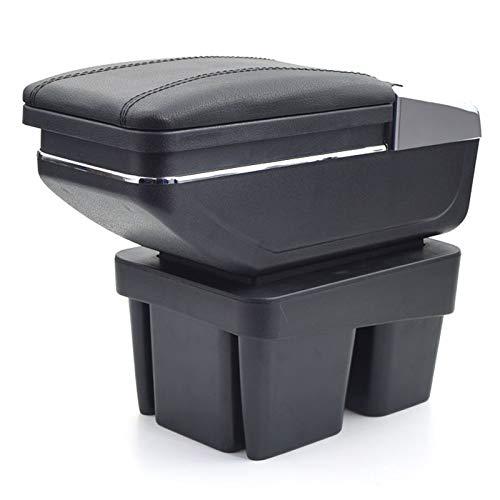 Für Volkswagen Golf 7 2013-2017 Armlehnebox Mittelkonsole mit Aufbewahrungsbox Mittelarmlehne Schwarz