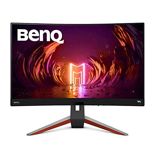 Monitor Curvo para Juegos de simulación de Carreras BenQ MOBIUZ EX2710R de 27 Pulgadas, QHD 2K HDRi 1000R, 165 Hz, 1 ms de MPRT, Compatible con PS5/Xbox X