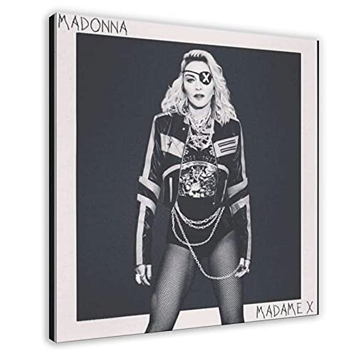 Sexy E Bella Femminile Singer Madonna Album Copertina Madame X Tela Poster Decorazione Camera Da Letto Sport Paesaggio Ufficio Camera Decor Regalo Frame-style 60x60cm