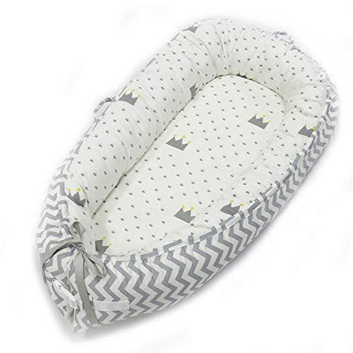 HYZXK Nid Bébé Et Tissu Jersey Lavable Super Soft 100% Coton avec Le Nouveau-Né De Cocon Cocon Babynest Matelas Stable Nestchenbett Étoiles,G