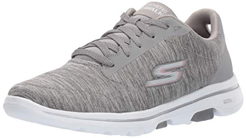 Skechers Women's GO Walk 5-True Sneaker, Gray, 9.5 M US