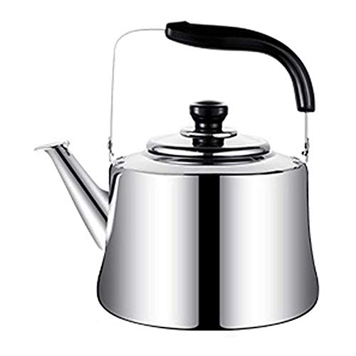 Tea Kettle Whistling Stainless Steel Stove Top Kettle, Whistle Stainless Steel Kettle Large Capacity,Retro Style Whistling Kettle,Suitable For All Hob/Stove Types Including Induction Prevent Excessive