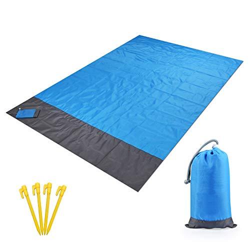 Flytise Waterproof Beach Blanket Outdoor Portable Picnic Mat Camping Ground Mat Mattress