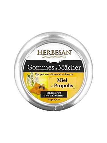 Herbesan Gommes à Mâcher Miel Propolis 45 Gommes