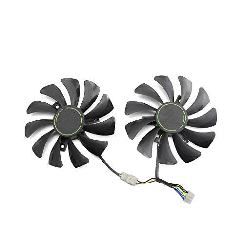 Yintiod GPU kühler Grafikkartenkühler, 85MM HA9010H12F-Z 4Pin Kühlerlüfter Ersatz für MSI GTX 1060 OC 6G GTX 960