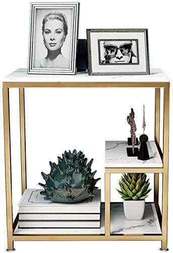 CWJ Mesas creativas Soportes Sofá de mármol nórdico Mesa auxiliar Mesa de esquina multicapa...