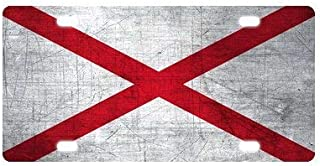 Stylish License Plate Durable Alabama State Flag Auto Tag für Auto und LKW Nummernschild 15,2 x 30,5 cm