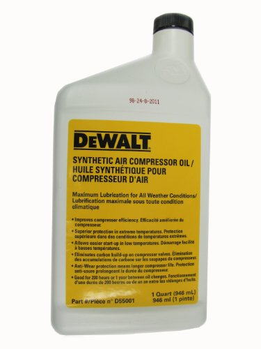 DEWALT Compressor Oil, 1-Quart (D55001)