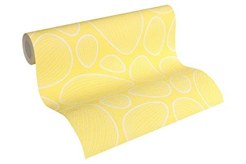 Lars Contzen Vliestapete Artist Edition No. 1 Tapete Vilde Strand Designertapete 10,05 m x 0,53 m gelb weiß Made in Germany 341222 34122-2