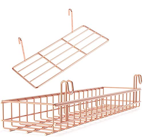 WUZILIN 2 Pack Regal für Design Metall Wandgitter,Regal Design Raster Fotowand Verwendet für Gitterfotowand