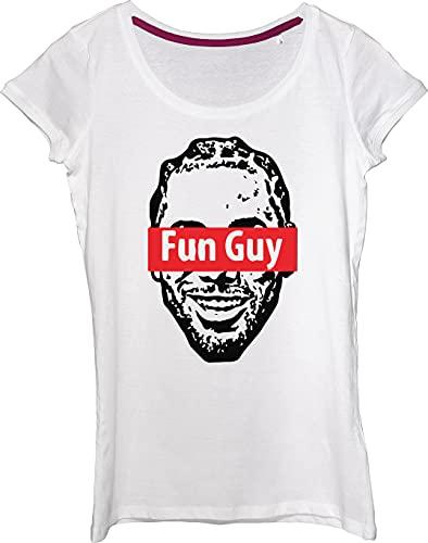 Camiseta para mujer con apodo líder del equipo de baloncesto., blanco, XXL