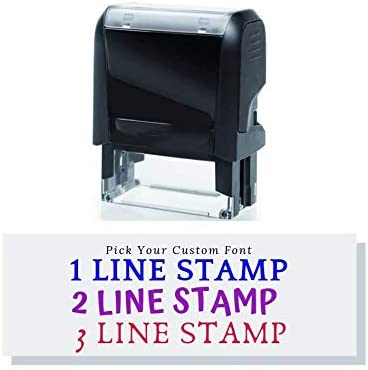 Custom Stamp - service 15 Font Super beauty product restock quality top Self-Inking Options Up Address