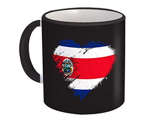 Corazón de Costa Rica : Taza de Regalo : Bandera de expatriados de Costa Rica