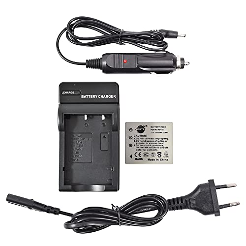 DSTE Repuesto Batería y DC29E Viaje Cargador kit para Fujifilm NP-40 FinePix F460 F470 F480 F610 F650 F402 F403 F420 F455 F700 F710 F810 F811 J50 V10 Z1 Z2 Z3 Z5fd