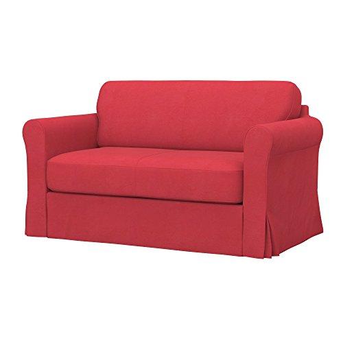 Soferia - IKEA HAGALUND Funda para sofá Cama, Eco Leather Dark Orange