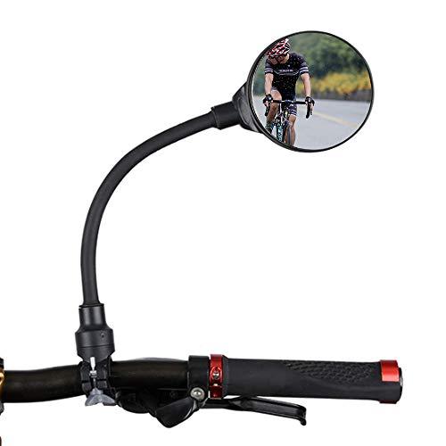 YFSEOS Specchi Bici, Specchio Retrovisore con Vista Trasparente,Manubrio Regolabile a 360°, Adatto per Manubri con Un Diametro da 22 a 32 mm Pollici - 1 Pezzo