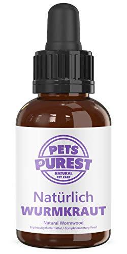 Pets Purest 100% Natürliches Wurm Pet-Liquid Tropfen. Vor und bei Wurmbefall. Hunde, Katzen, Geflügel, Vögel, Kaninchen und Haustiere. Alternative zu chemischen Produkten Vorteile Darmhygiene (50ml)