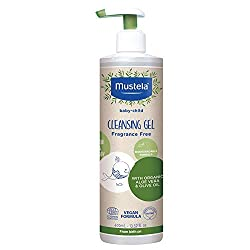 Image: Mustela Baby Cleansing Gel - Natural Hair and Body Wash - with Organic Olive Oil and Aloe Vera - Fragrance Free, Vegan & Biodegradable - 13.52 fl. oz.