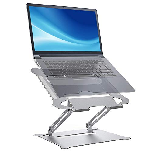 Plartree Supporto PC Portatile, Alluminio Supporto Laptop Ventilato Pieghevole Supporto Ergonomico per Laptop Regolabile, Adatto per MacBook Air PRO, dell, XPS, HP, Lenovo Computer Portatili e Tablet