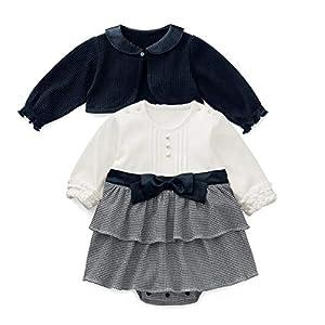 【フォーマル女の子スーツ】ボレロ&ロンパス (90)