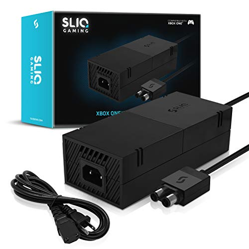 Sliq Gaming Xbox One Power Supply Brick with Power Cable Replacement for Xbox One - 100-240V Auto Voltage - Includes 1-Year Warranty - USA Brand