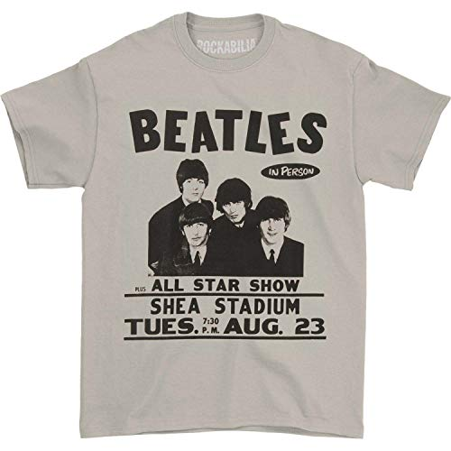 Beatles The Live at Shea Stadium Adult Tee-Cream (Small)