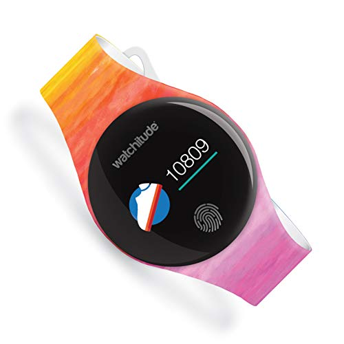 Watchitude Move2 Waterproof Fitness Watch for Kids & Adults, Watercolors (Orange) -- Activity, Health, Bluetooth, Stop Watch, Step, Calorie, Distance, & Sleep Monitoring, Color, Rechargable