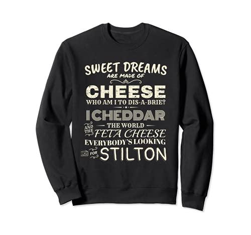 Diseño de queso feta inspirado en la canción del queso chedd Sudadera