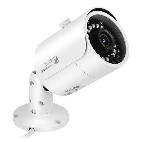 Cámara de Vigilancia Cámara de Seguridad Cámara IP 4.0 MP H.265 + Cámara De Red IP para Exteriores Vigilancia Cámara De Visión Nocturna por Infrarrojos con Visión Gran Angular Inteligente A Prueba De