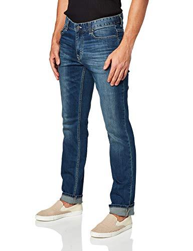 Calvin Klein Men's Slim Straight Jeans, Authentic Blue, 32x30