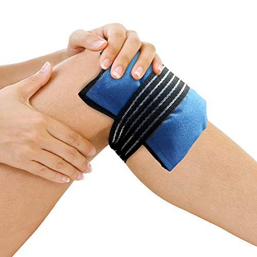 GelpacksDirect Bolsa de gel para aplicar frío y calor - Con banda de compresión y elástico para la rodilla.