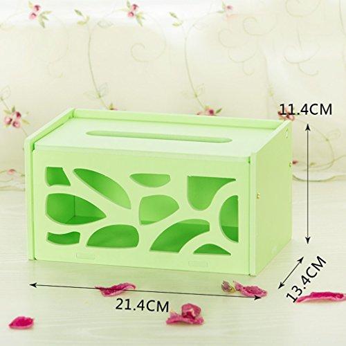 Boîte de rangement de papier Creative européen Boîte de rangement de bureau Boîte de rangement simple blanc Boîte de rangement de table verte étanche Boîtier en bois-plastique (couleur : Vert)