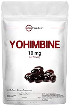 Maximum Strength Yohimbine Supplements for Men and Women 10mg Per Serving 300 Soft-gels Supports Fat Loss and Boosts Metabolism Non-GMO