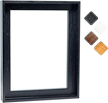 Canvas Floating Frame Picture Wall Art Painting Frame Decor for Finished Canvas  12 x16  Black Frame