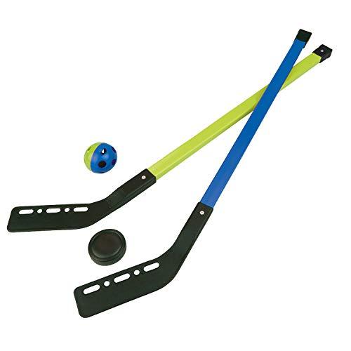 Land-Haus-Shop Kinder Streethockey Set Feld EIS Halle Straßen Hockey Spiel 2 Schläger 1 Ball 1 Puck