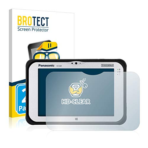 BROTECT Schutzfolie kompatibel mit Panasonic Toughpad FZ-M1 (2 Stück) klare Bildschirmschutz-Folie